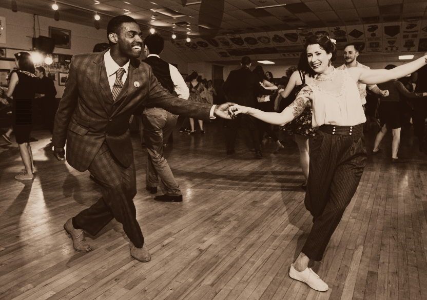 lindy hop vintage clothes and moves Black